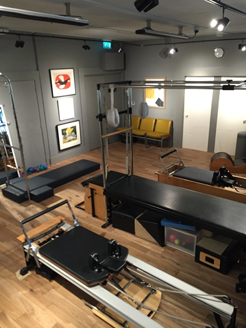 the reformer in Osteopath and Pilates studio Notting Hill and Ladbroke Grove, London W10